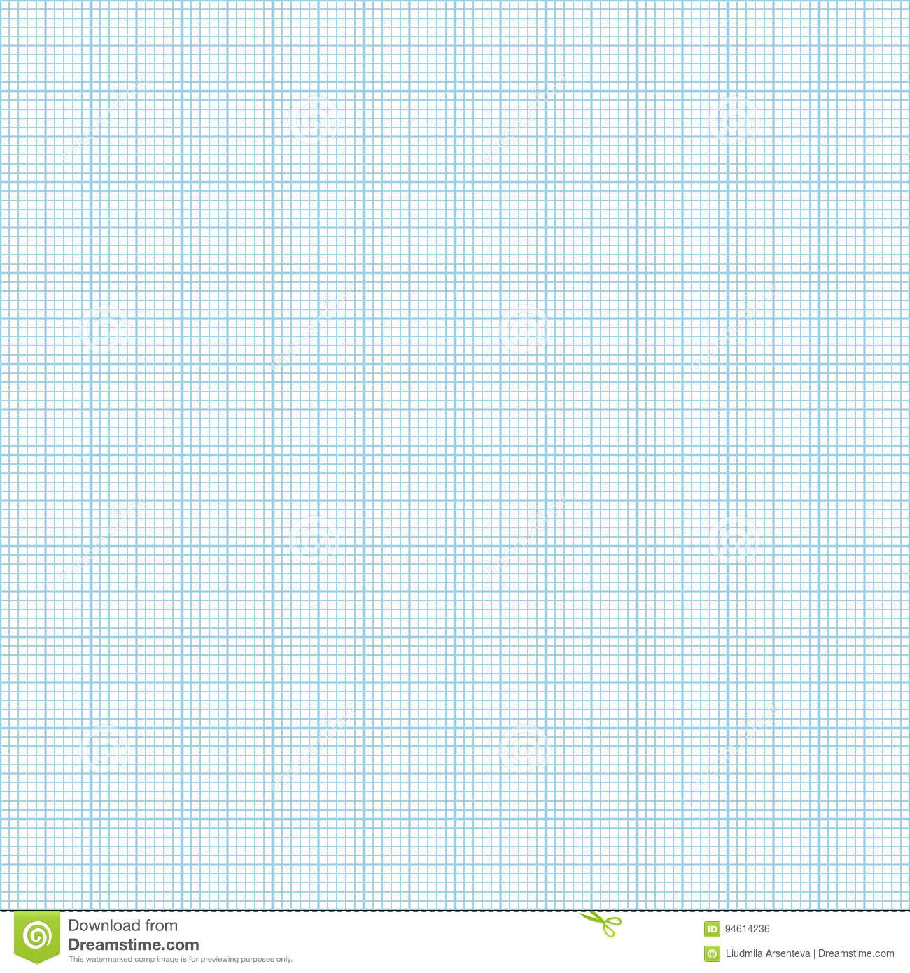 vector blue metric graph paper seamless pattern stock