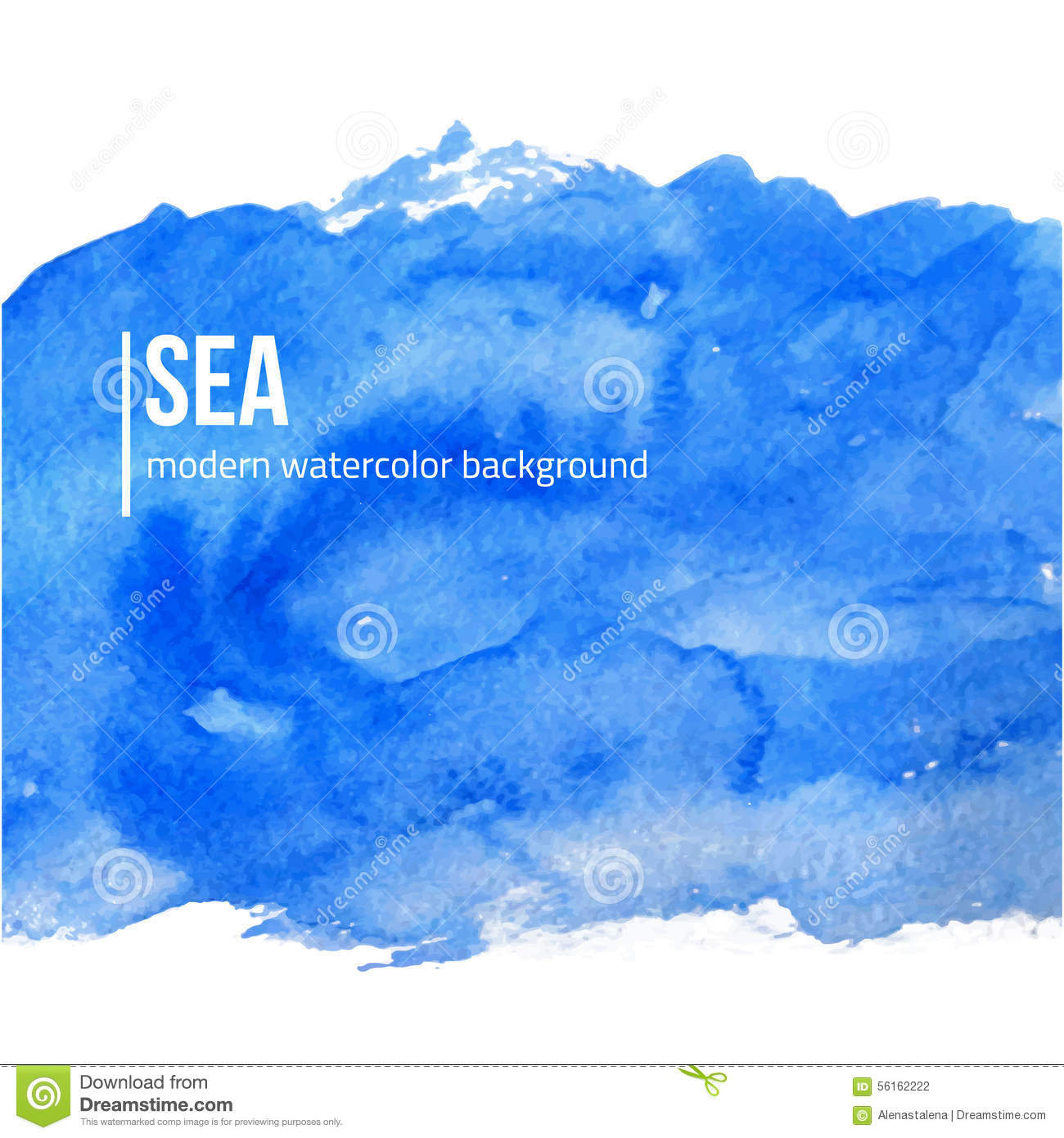 Book Cover Design Watercolor ~ Vector blue watercolor background sea or sky creative