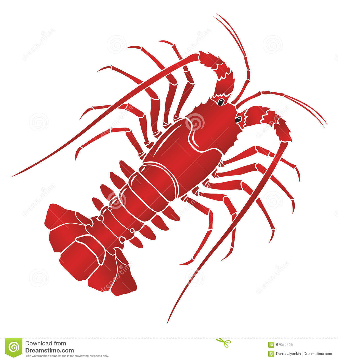 vector boiled spiny or rock lobster stock illustration crawfish clipart png crayfish clip art
