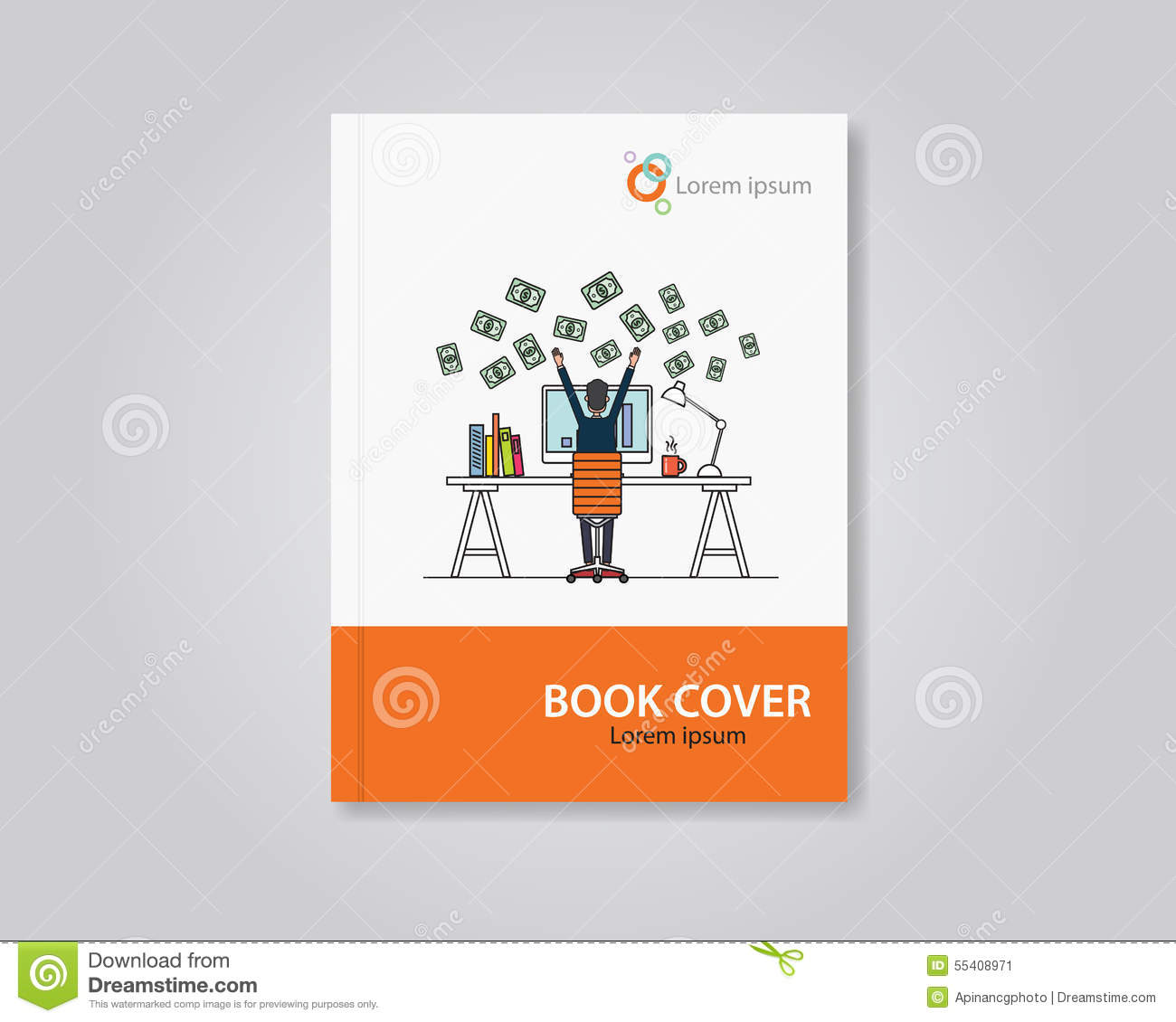 vector book and brochure flyer cover template design editable stock