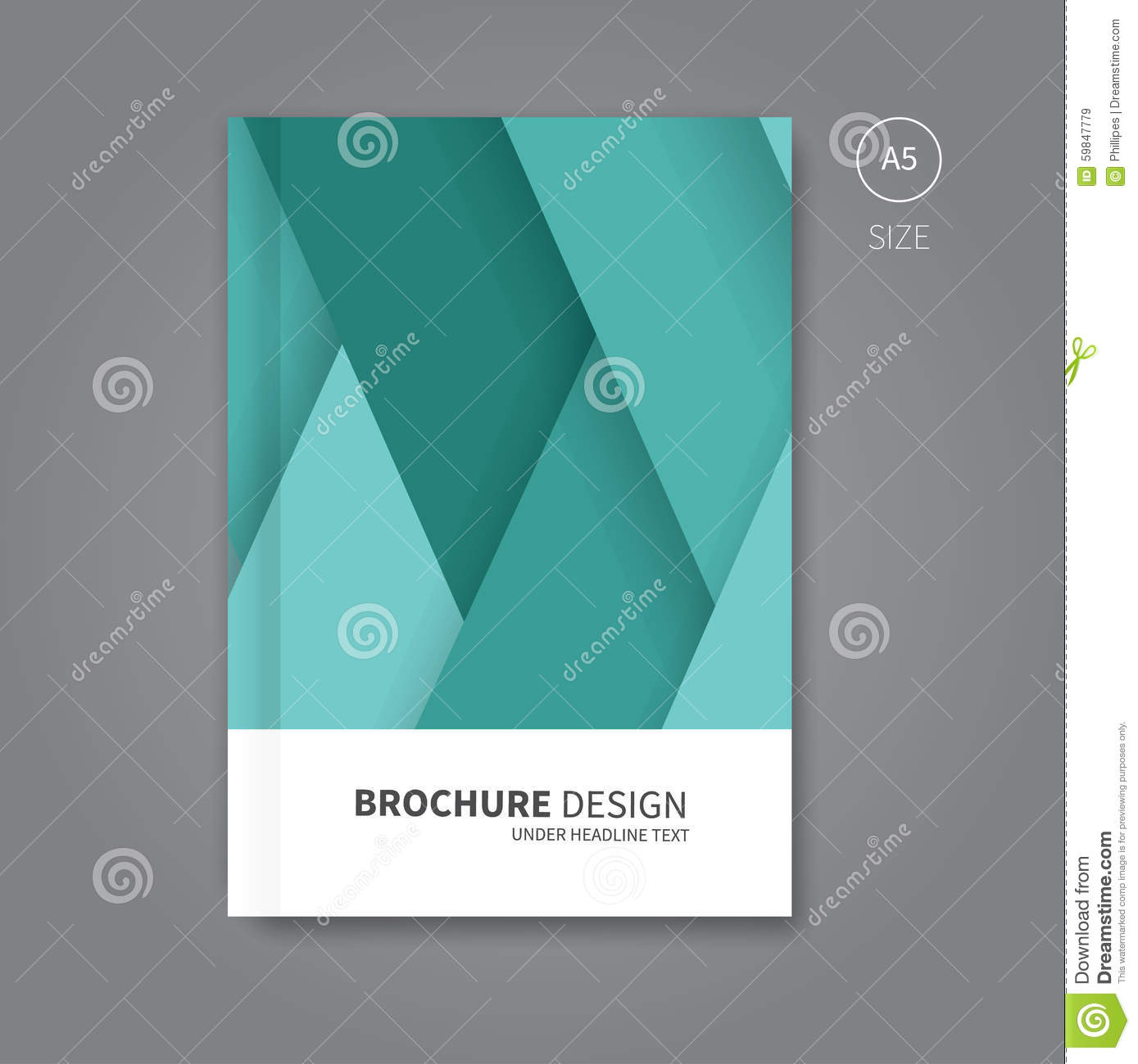 book cover template illustrator - vector book cover template design stock vector