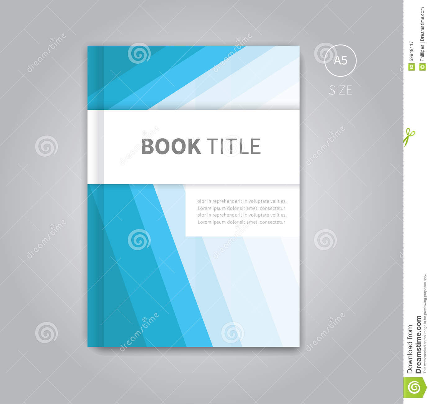 Book Cover Layouts : Vector book cover template design stock