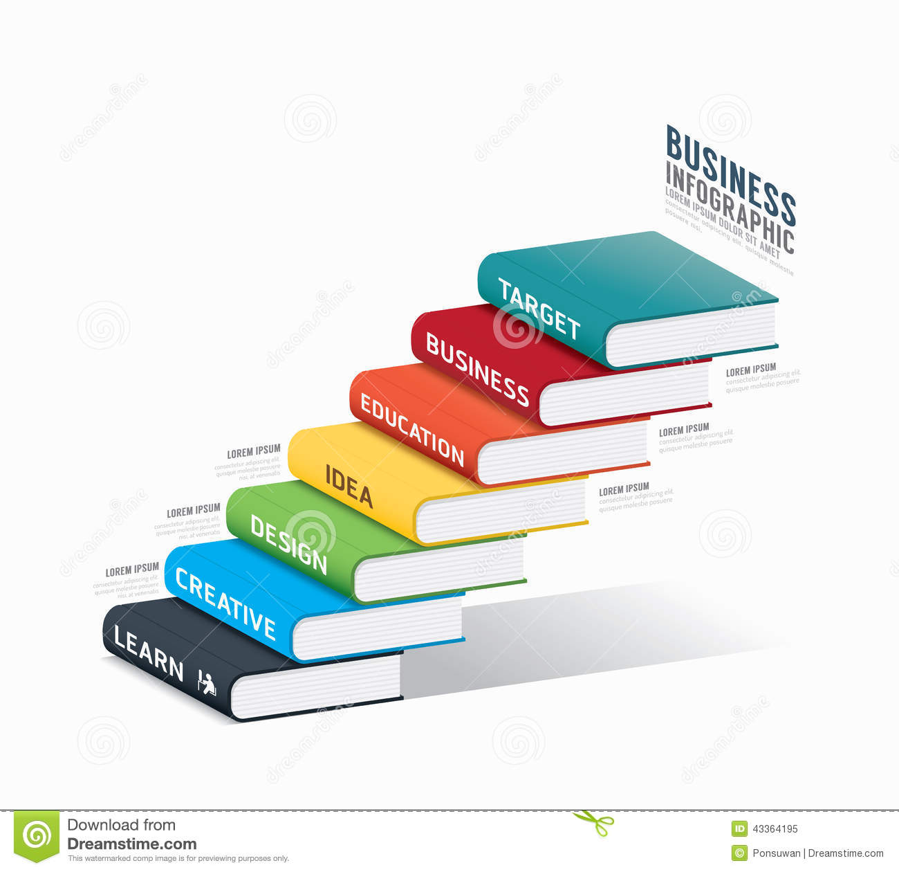 Vector Book Infographic Template.business Success Concept