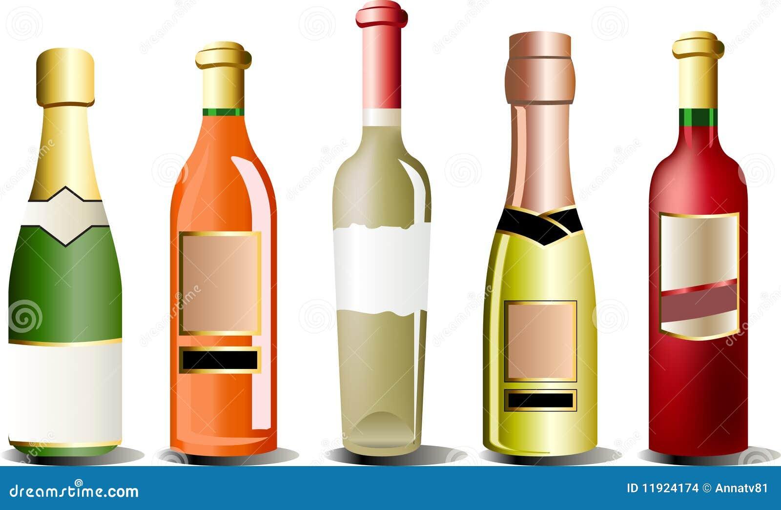 Vector bottles of alcohol stock vector illustration of for Liquor bottle art