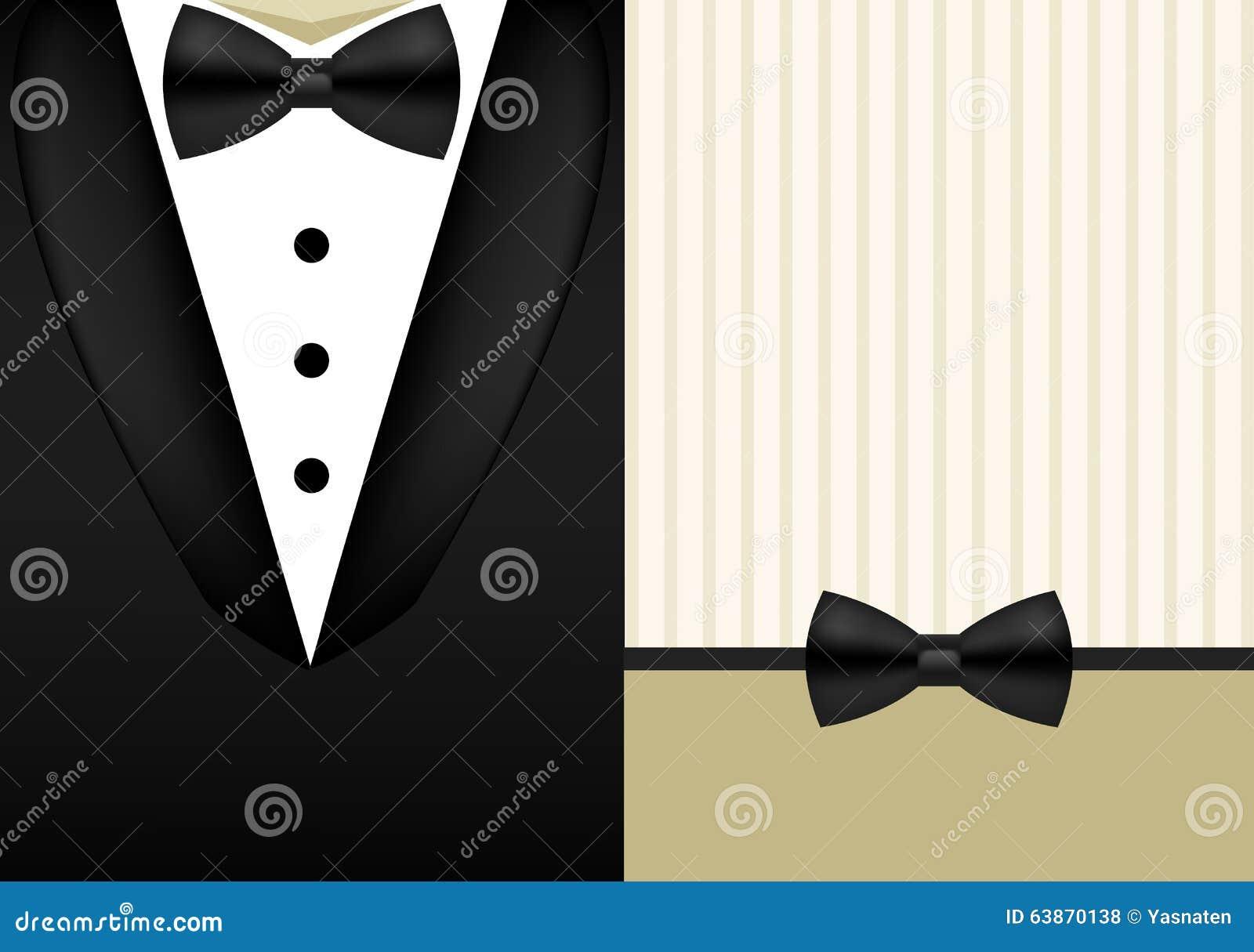 Vector bow tie tuxedo invitation design template stock vector download vector bow tie tuxedo invitation design template stock vector illustration of jacket male maxwellsz
