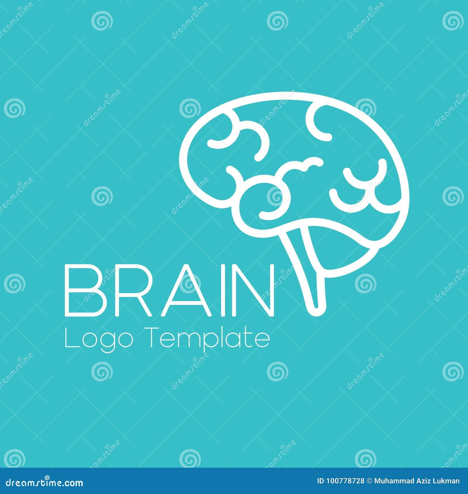 Vector Brain logo template