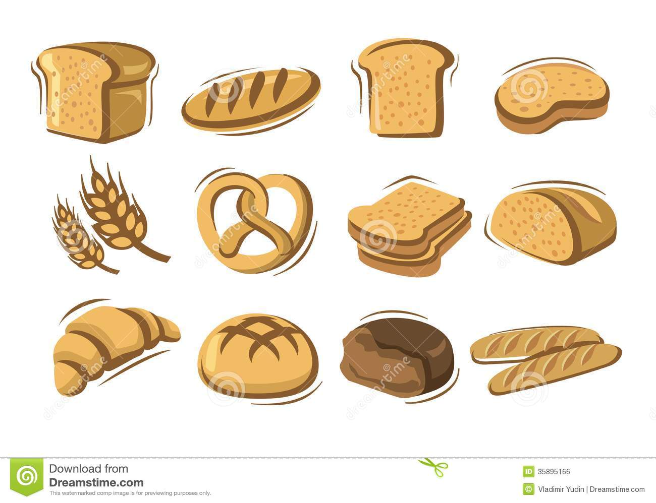vector bread royalty free stock image image 35895166