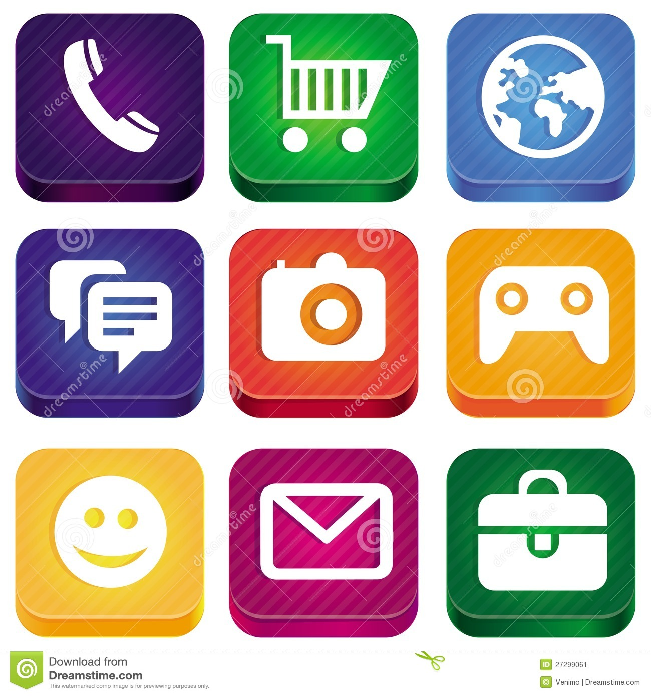 Vector Bright App Icons Stock Image Image 27299061