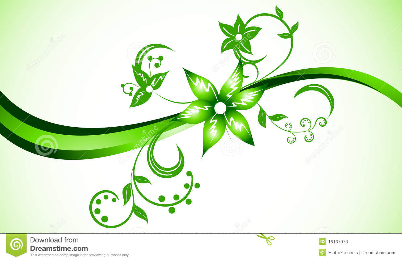 Vector Bright Background In Green Color Stock Vector