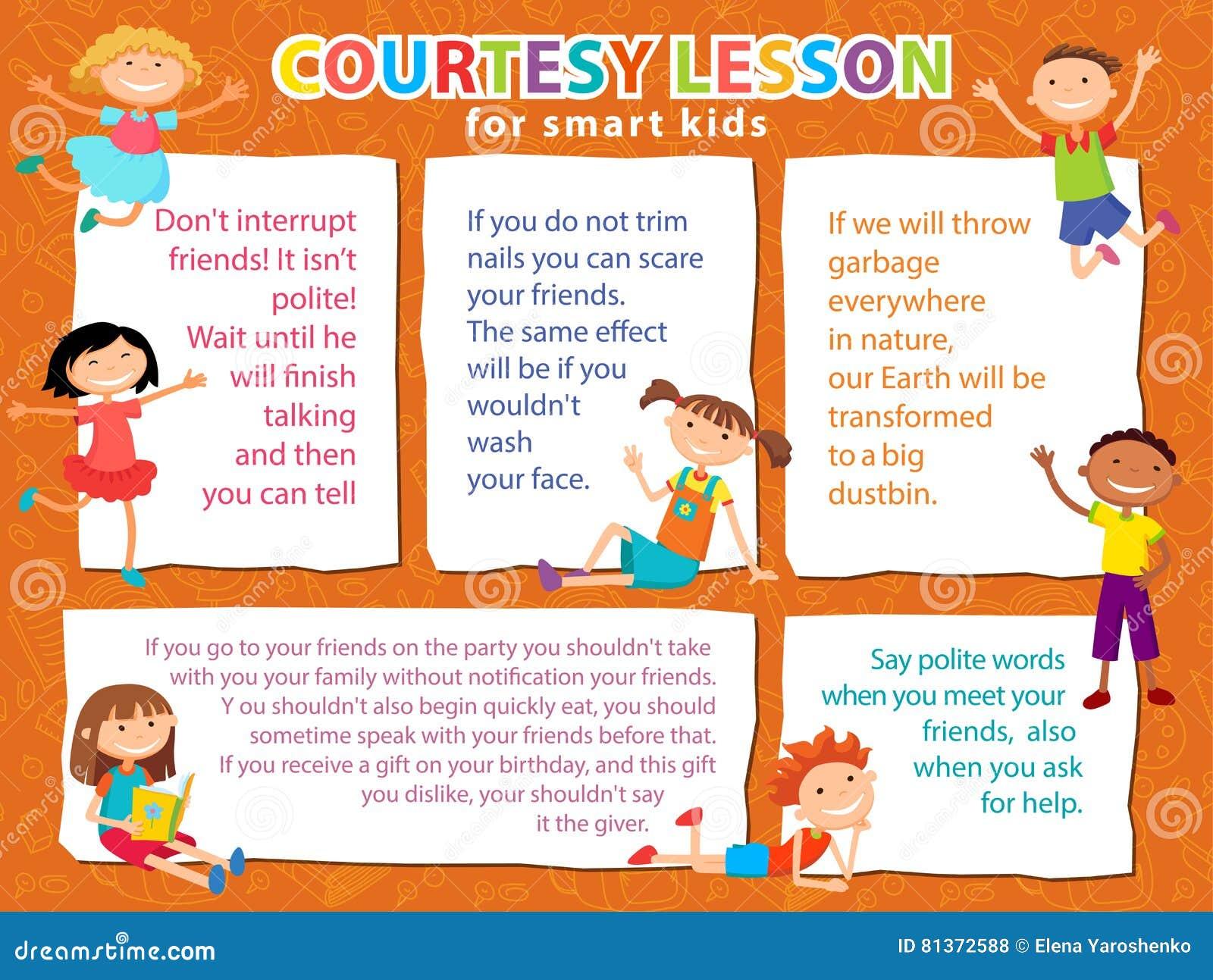 Vector Brochure Backgrounds With Cartoon Children