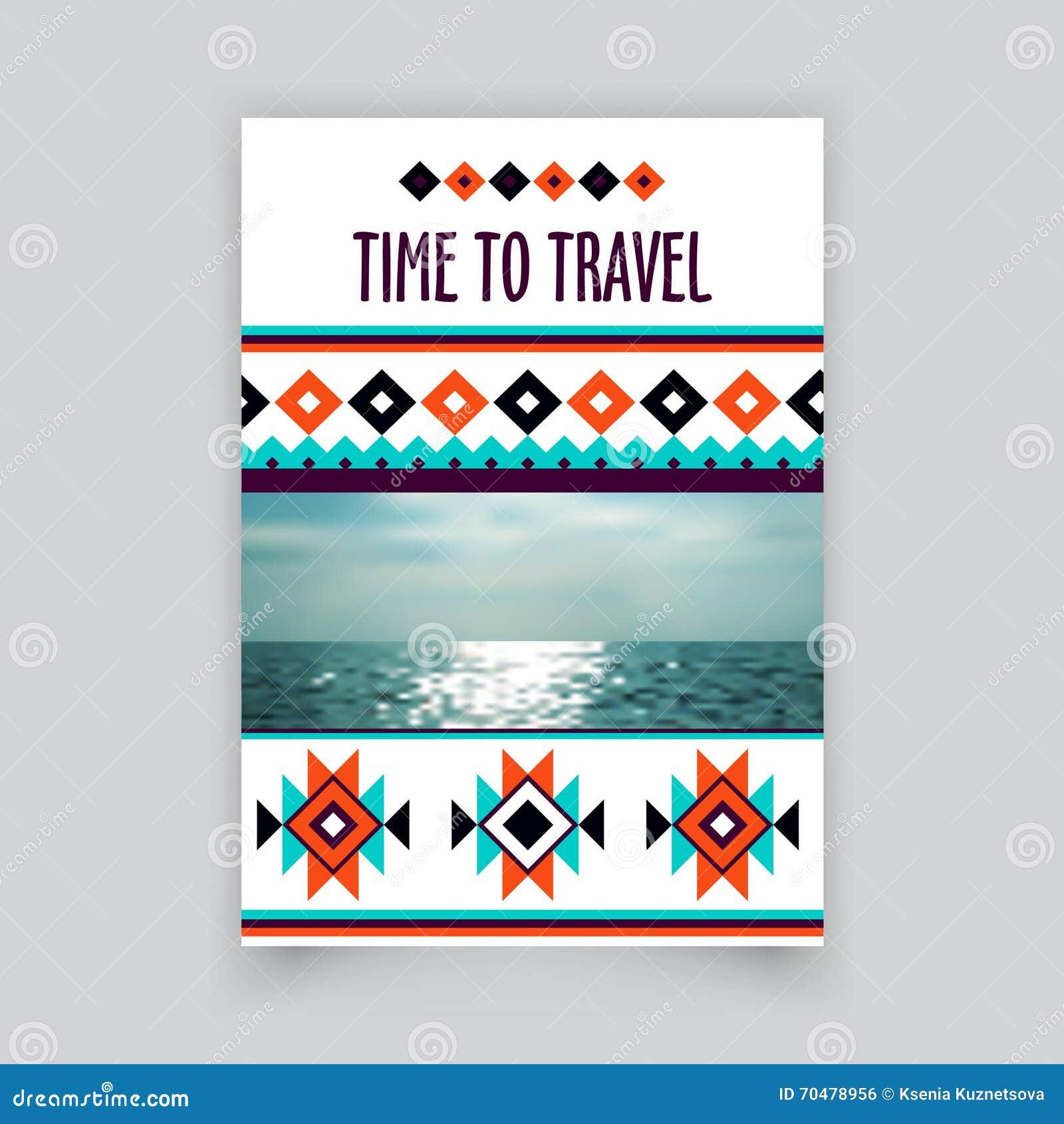 blank travel brochure template - vector brochure corporate blank template tribal brochure