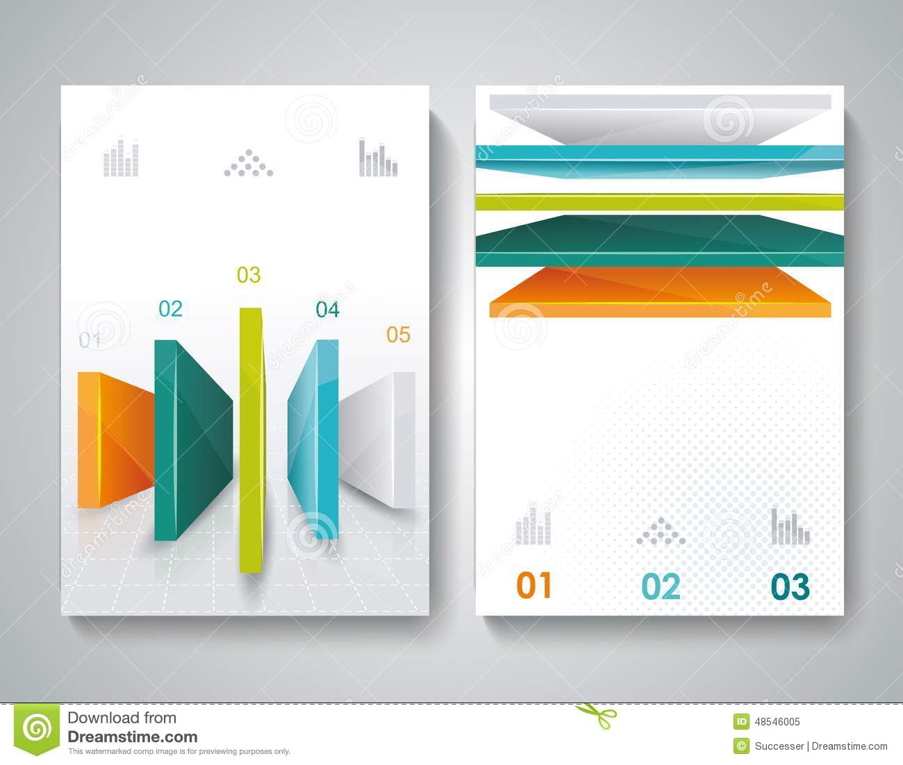 Vector brochure design with 3d elements stock vector for 3d brochure template