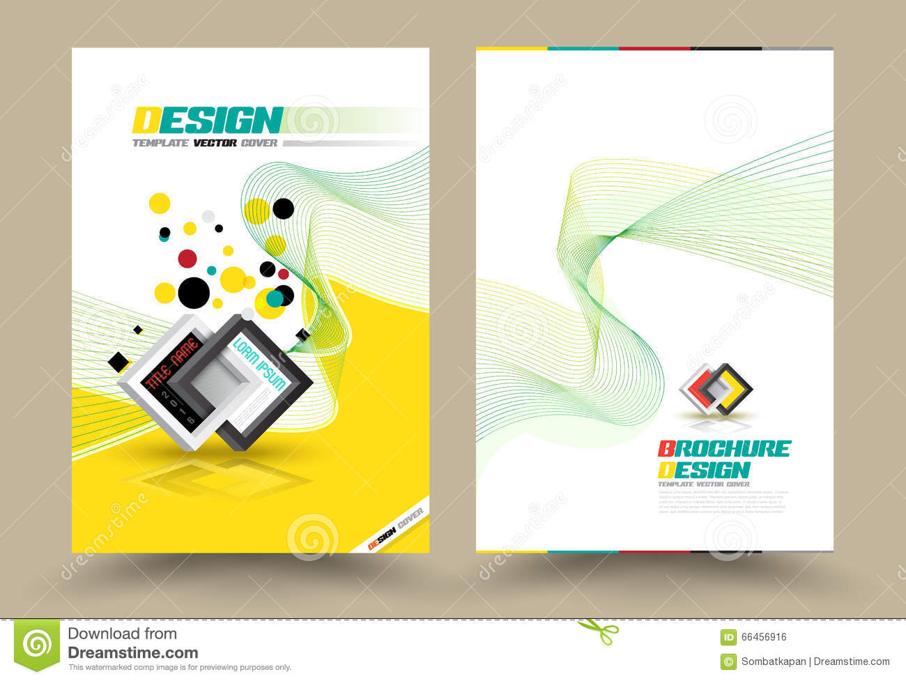 abstract business flyer design vector template in a4 size annual vector brochure flyer design layout template line style royalty stock image