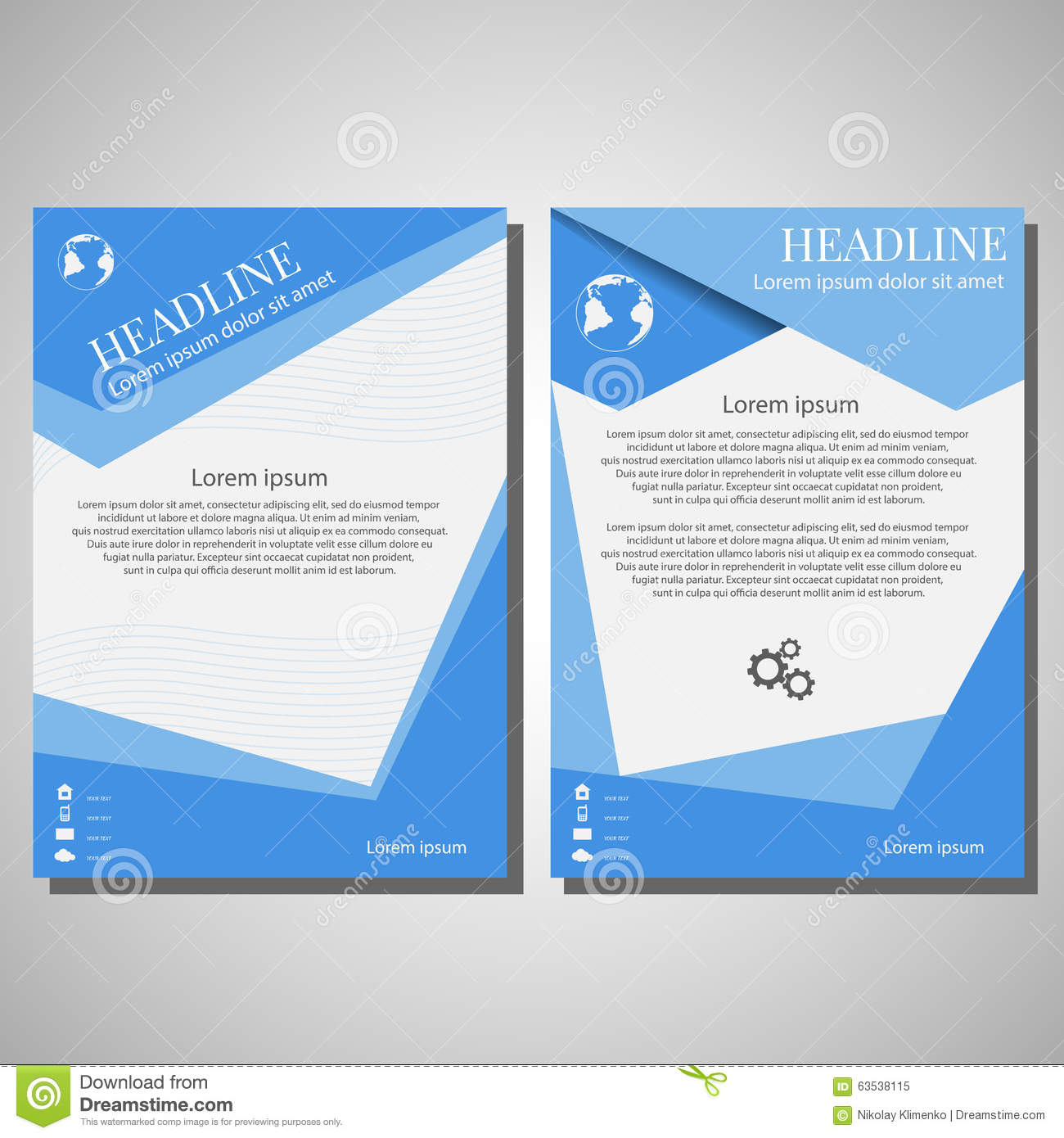 Vector brochure flyer design layout template size a4 for Brochure front cover design