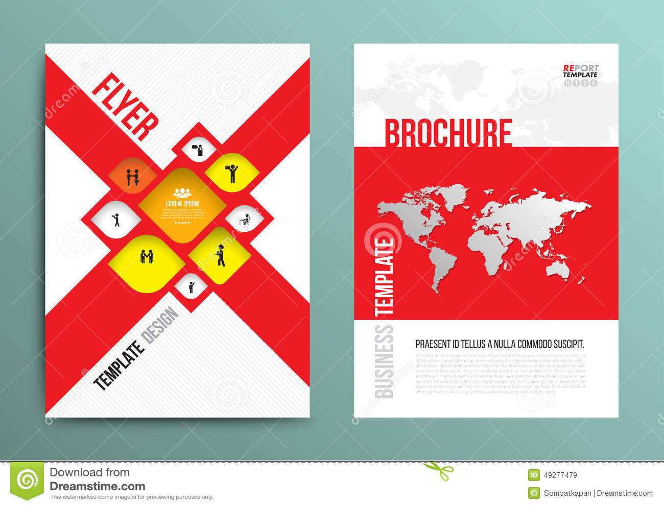 Vector brochure flyer design layout template in a4 size for Brochure size template