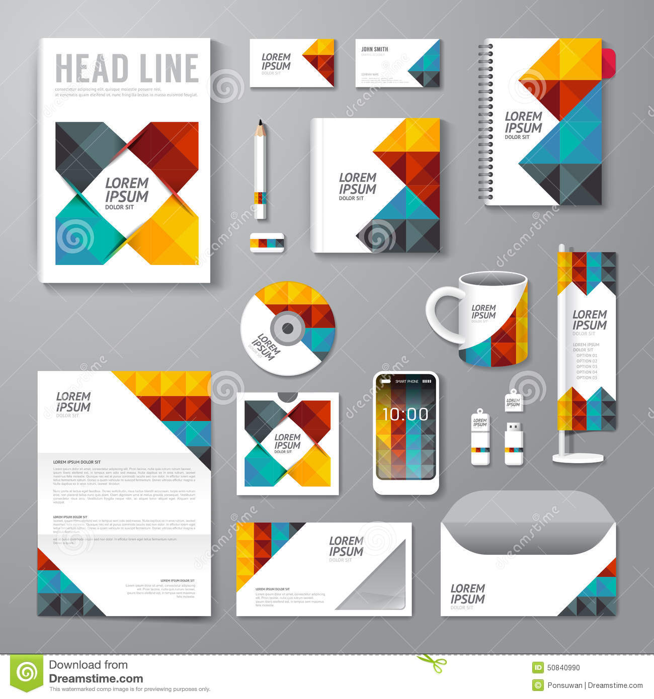 Poster design vector graphics - Royalty Free Vector