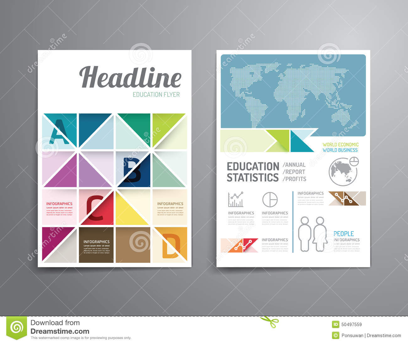 Brochure template layout cover design annual report magazine flyer - Vector Brochure Flyer Magazine Cover Booklet Poster