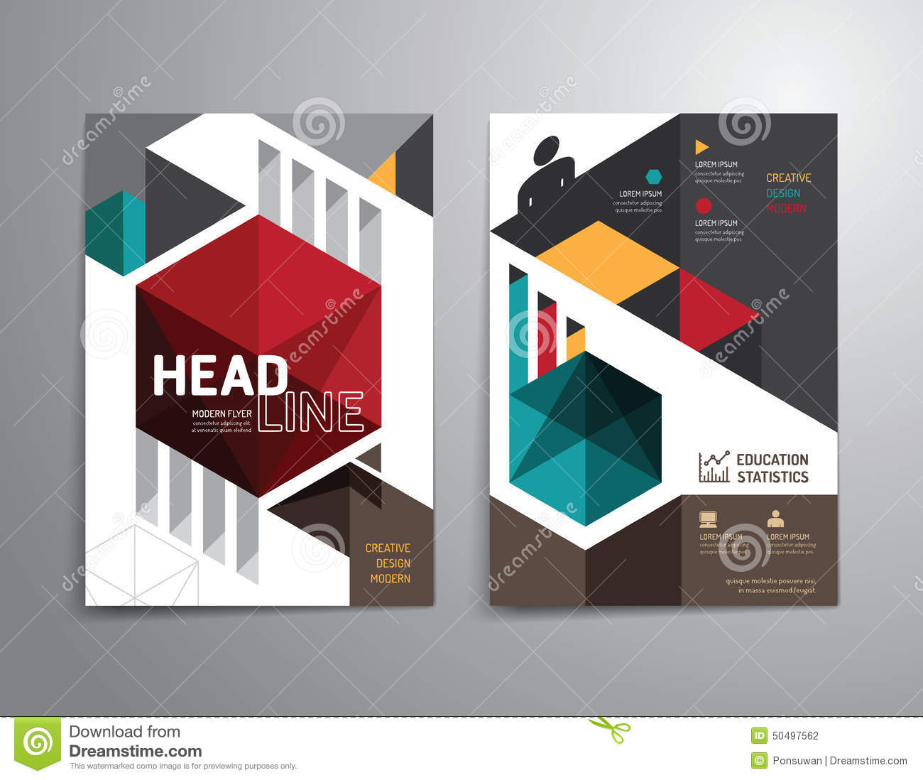 Poster design education - Vector Brochure Flyer Magazine Cover Booklet Poster Design Stock Photography