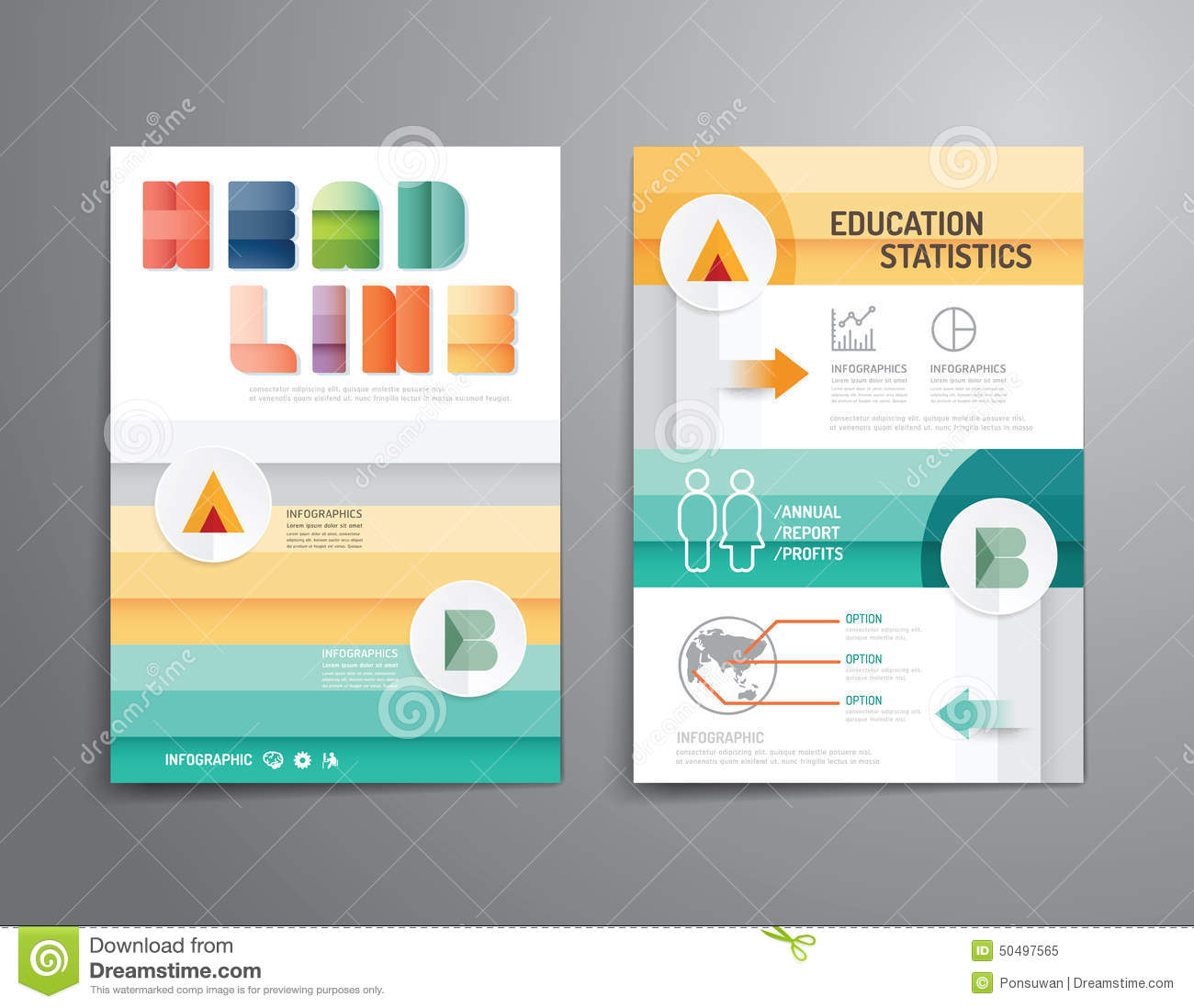 vector brochure flyer magazine cover booklet poster design templatelayout education annual report a4 size - Free Poster Design Templates