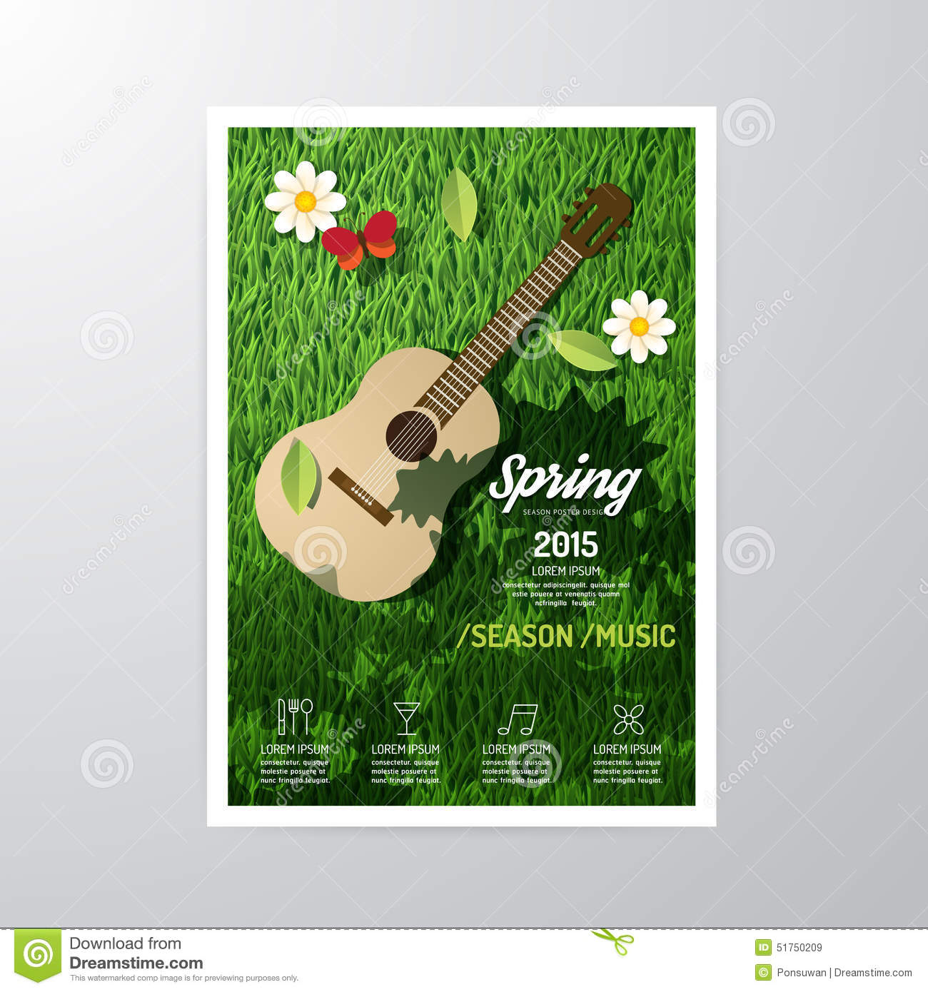 Poster design music - Vector Brochure Flyer Magazine Cover Booklet Poster Design Royalty Free Stock Images