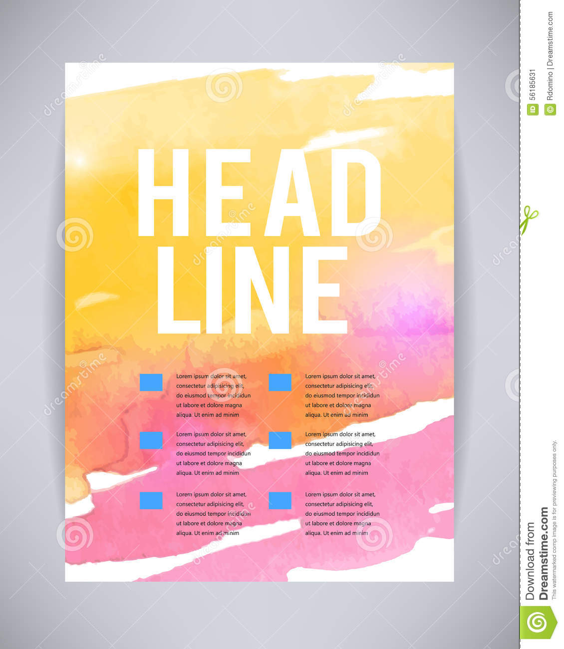 Vector Brochure And Flyer, Poster Template With Abstract