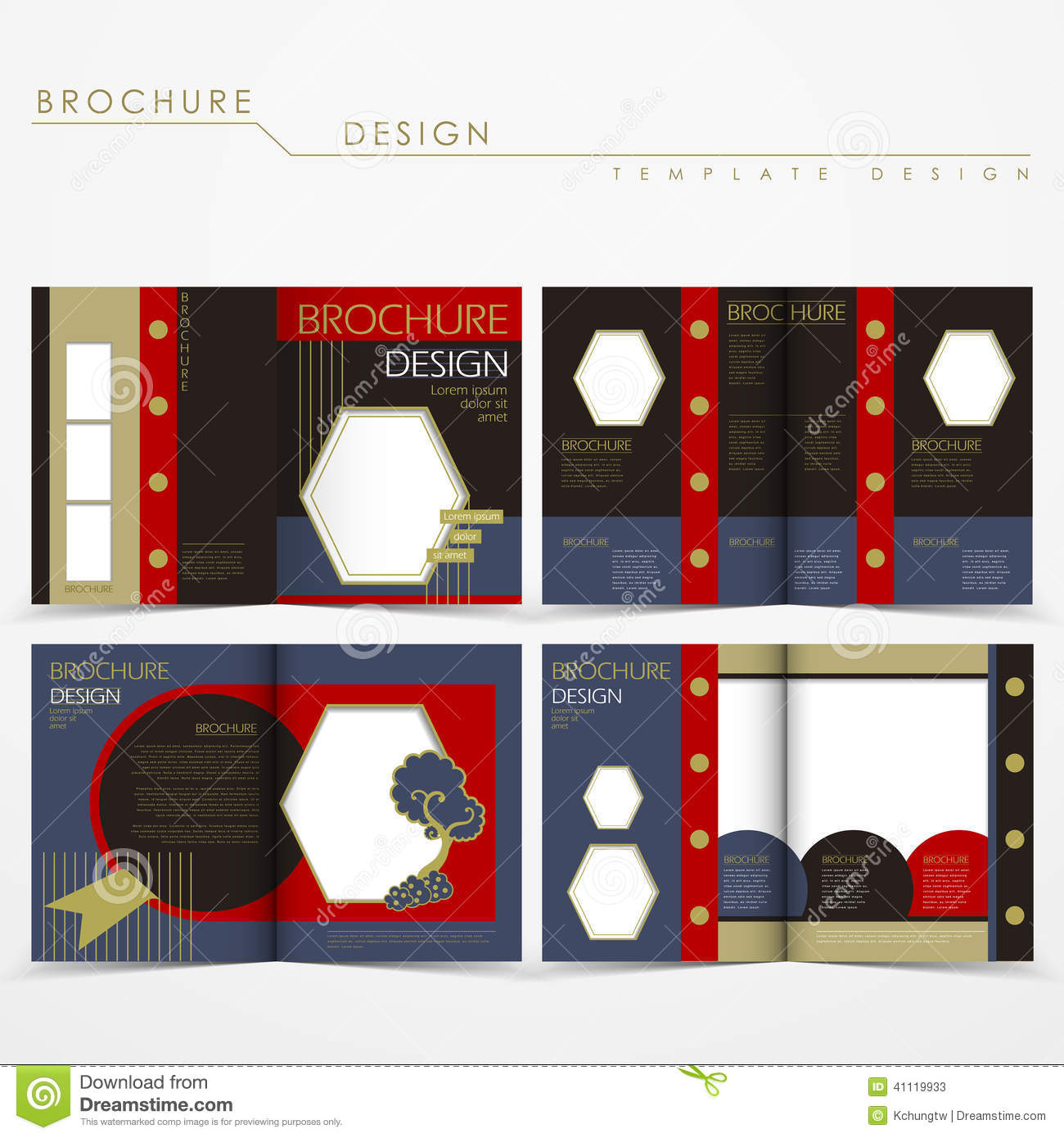 Vector Brochure Layout Design With Special Fancy Style Stock ...