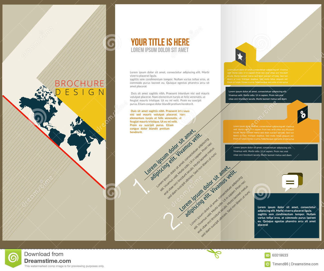 Vector Brochure Layout Design Stock Vector - Image: 60018633