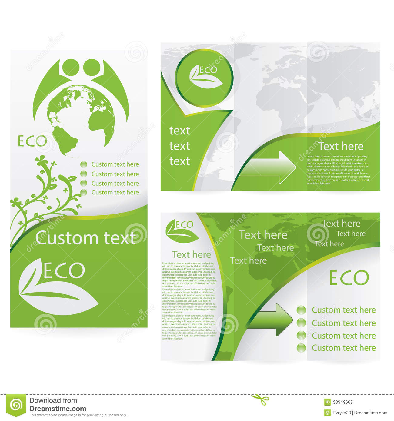 Vector brochure layout design royalty free stock for Free templates for brochures and flyers