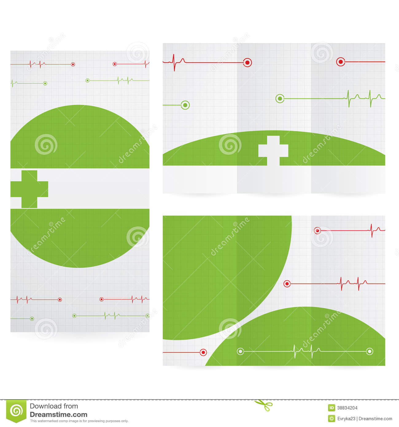 Vector Brochure Layout Design Template Green Medical – Medical Brochure Template