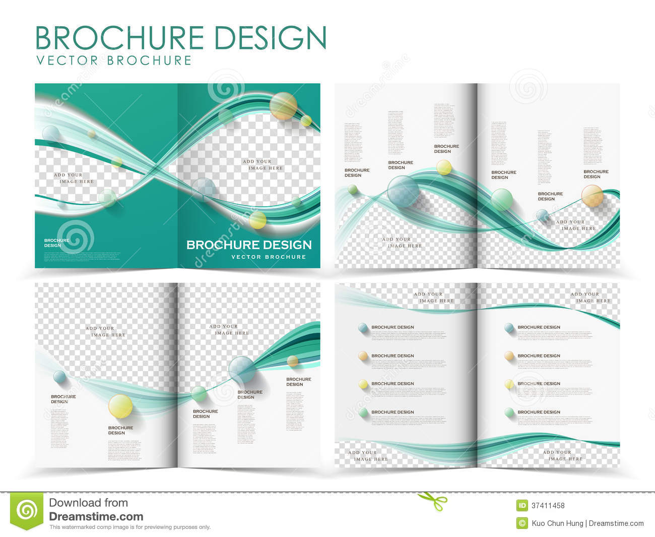 Vector brochure layout design template stock vector Blueprint designer free