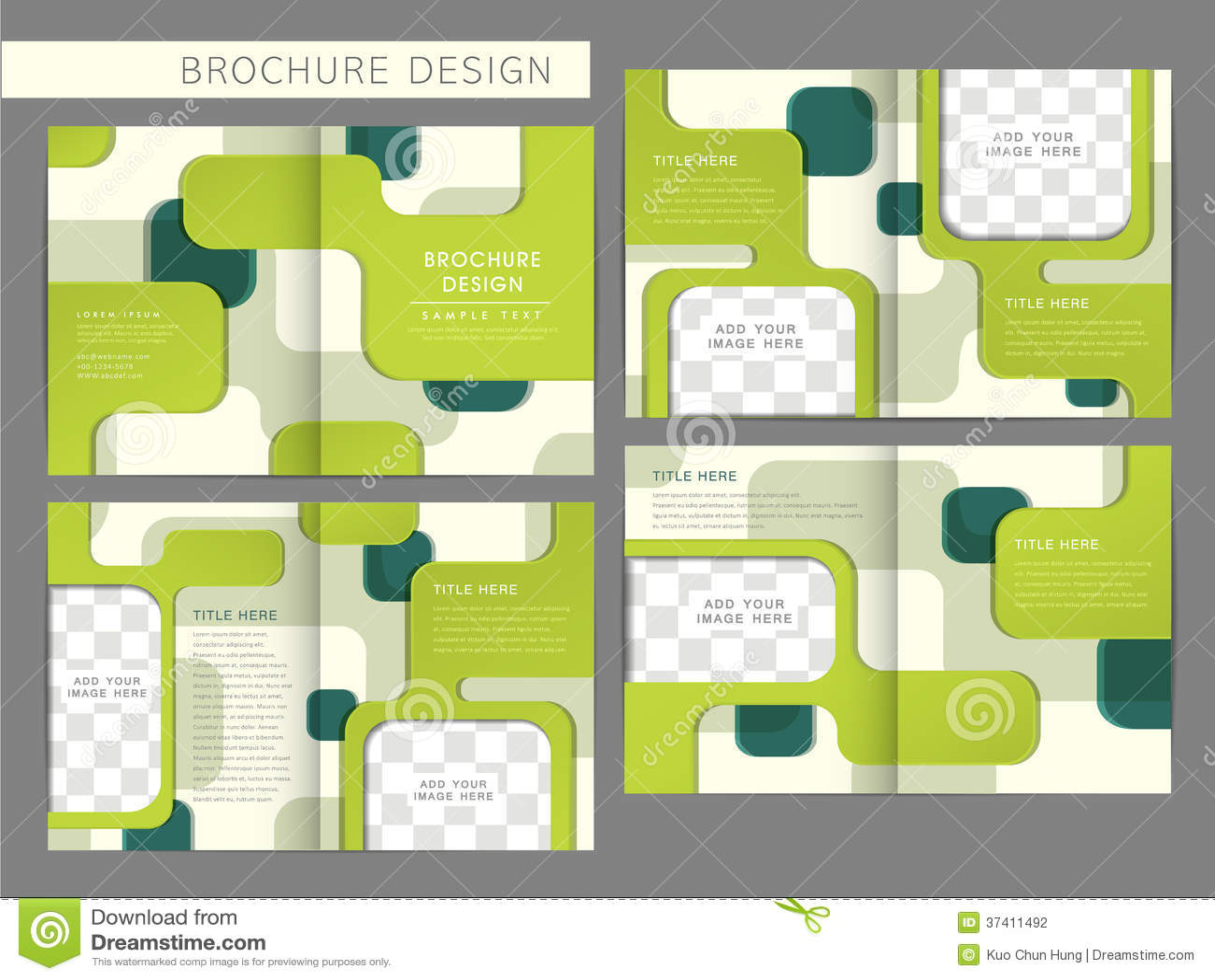 brochure template vector - vector brochure layout design template stock vector