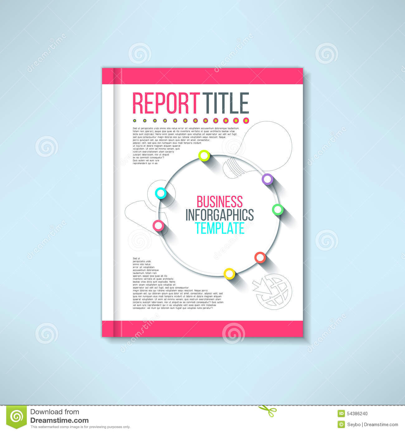 Cover Book Brochure Layout Vector : Vector brochure in modern flat design book cover stock