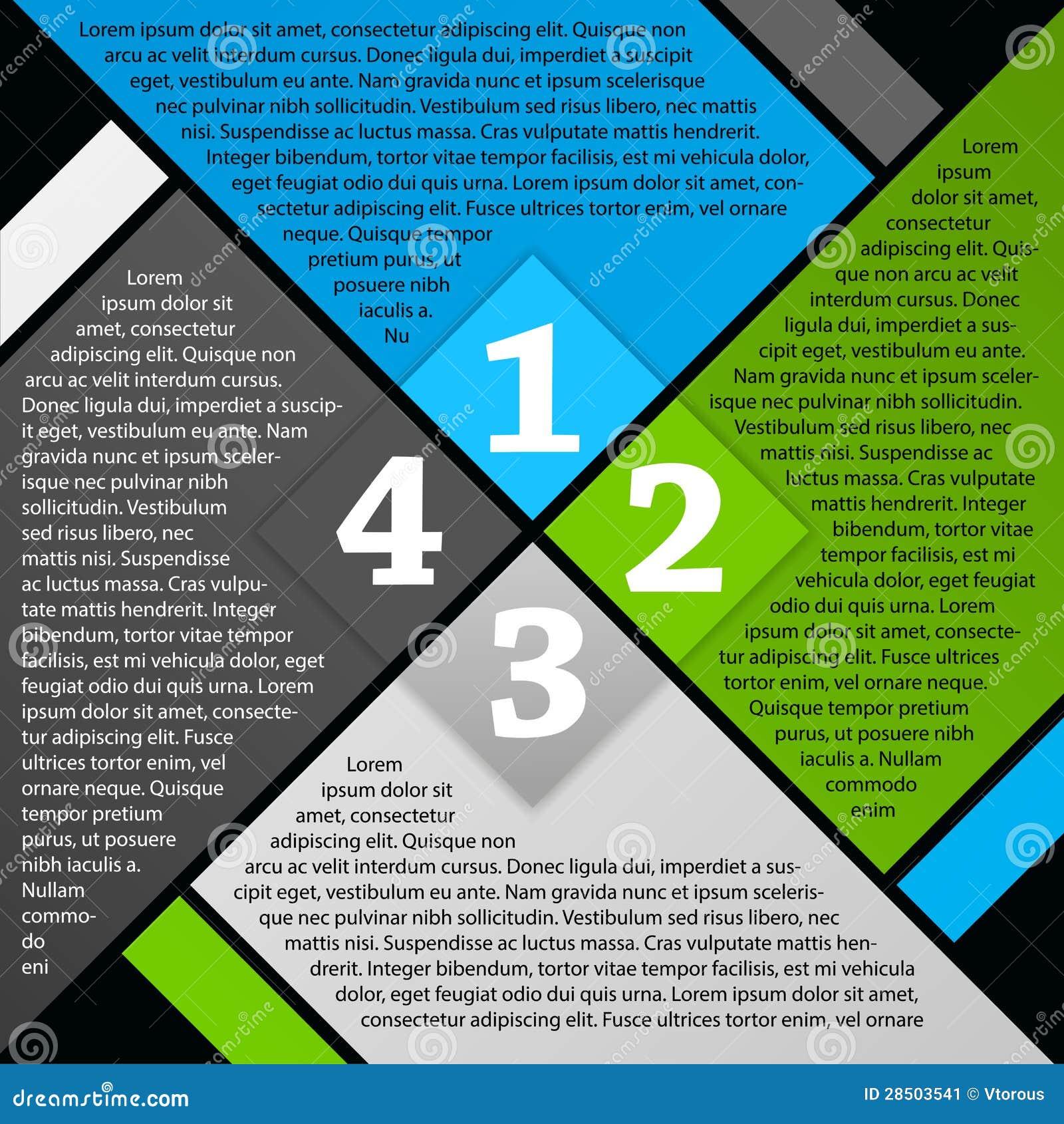 vector brochure page design stock vector illustration of digits