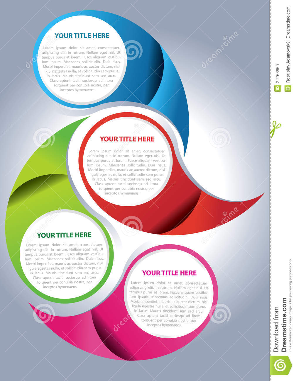 vector brochure page design concept stock vector illustration of