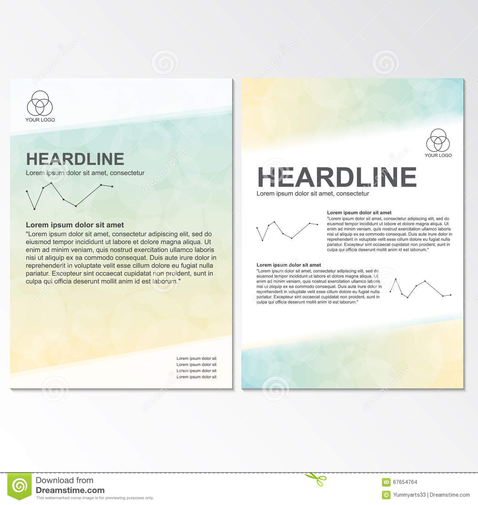 Vector brochure template design with circel elements.