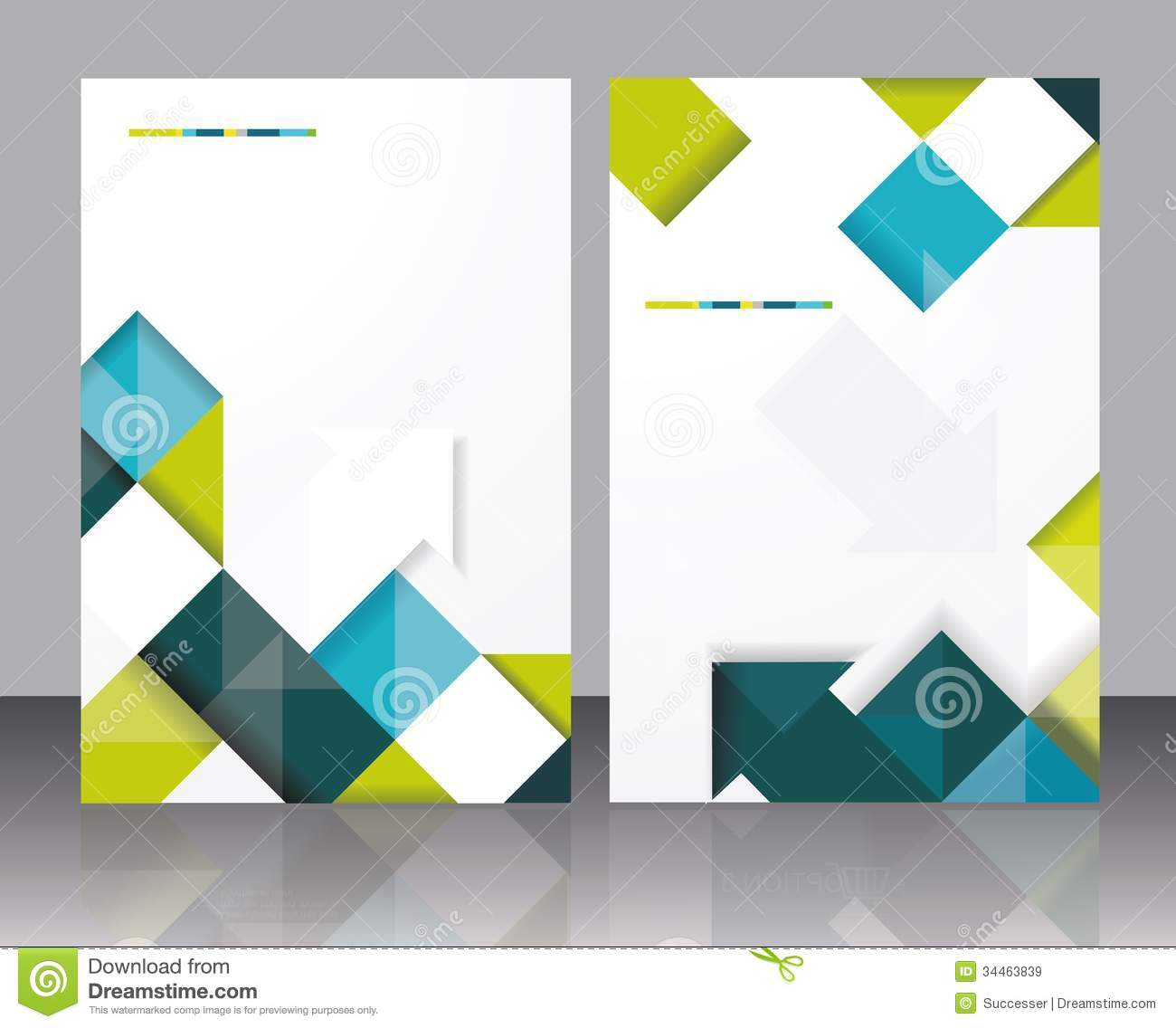 vector brochure template design with cubes and arrows elements
