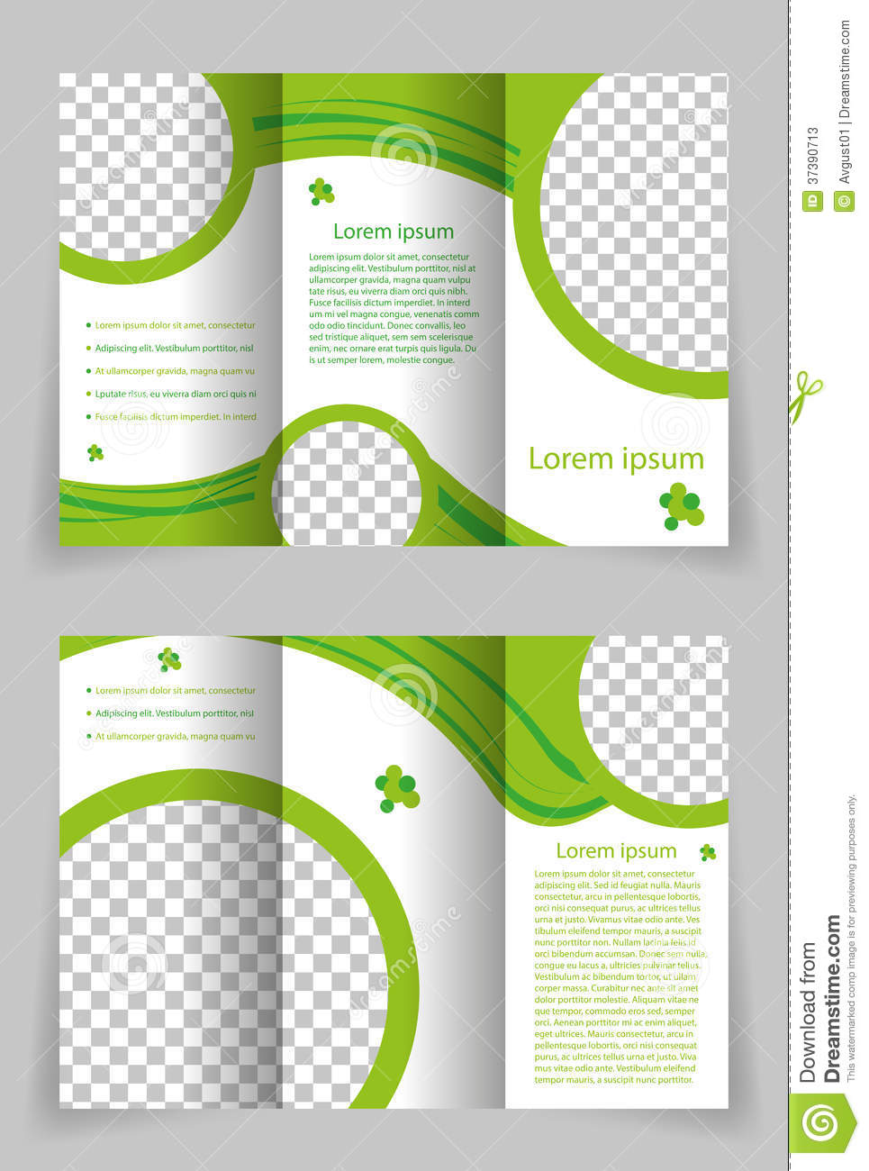 design brochure template - vector brochure template design with green element stock