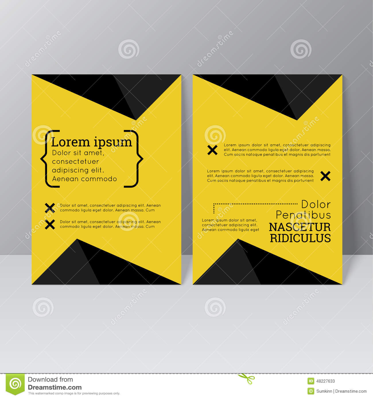 Vector brochure template design stock vector image 48227633 for Booklet brochure template
