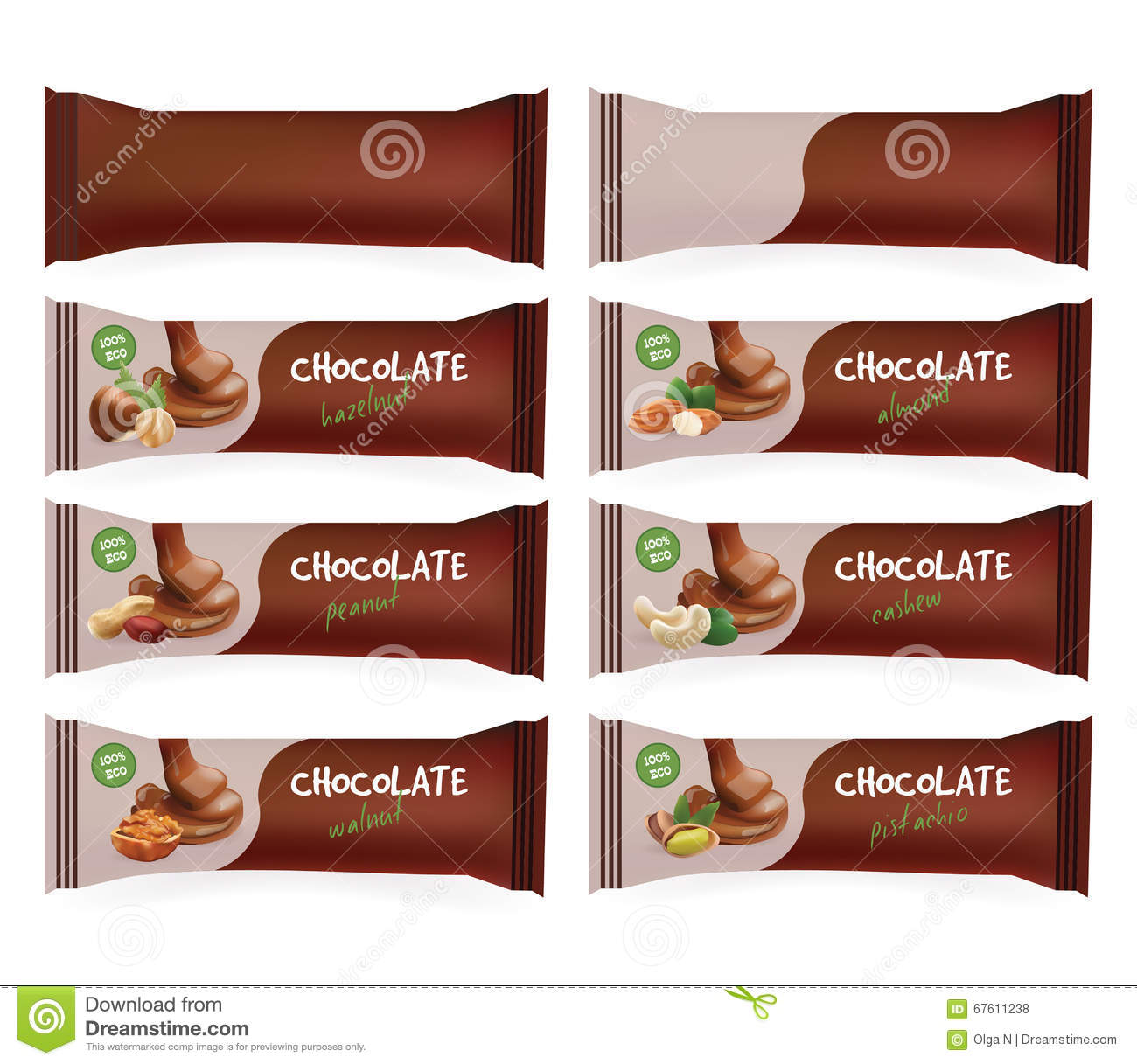 Blank Chocolate Bar Packaging Royalty Free Stock Image - Image ...
