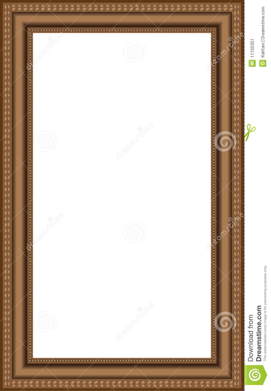 vector brown wooden frames