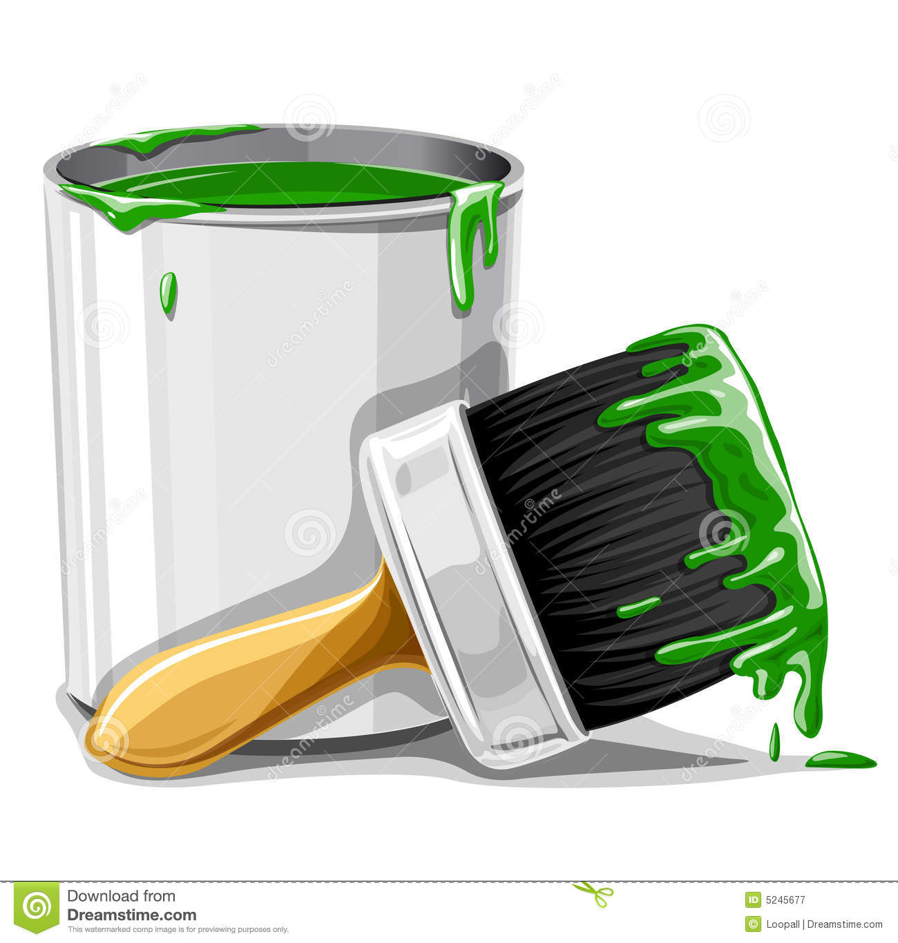 Bucket Only Paints Green
