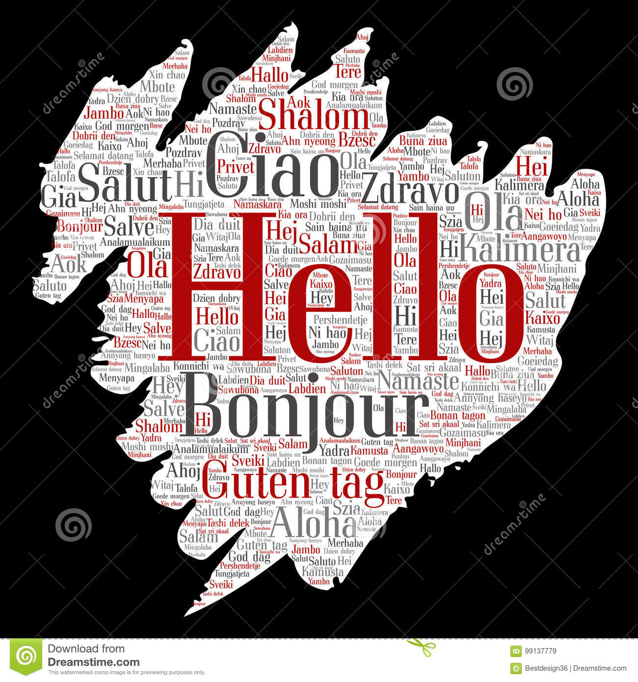 Vector brush paper hello or greeting international stock vector download vector brush paper hello or greeting international stock vector illustration of italian greeting m4hsunfo