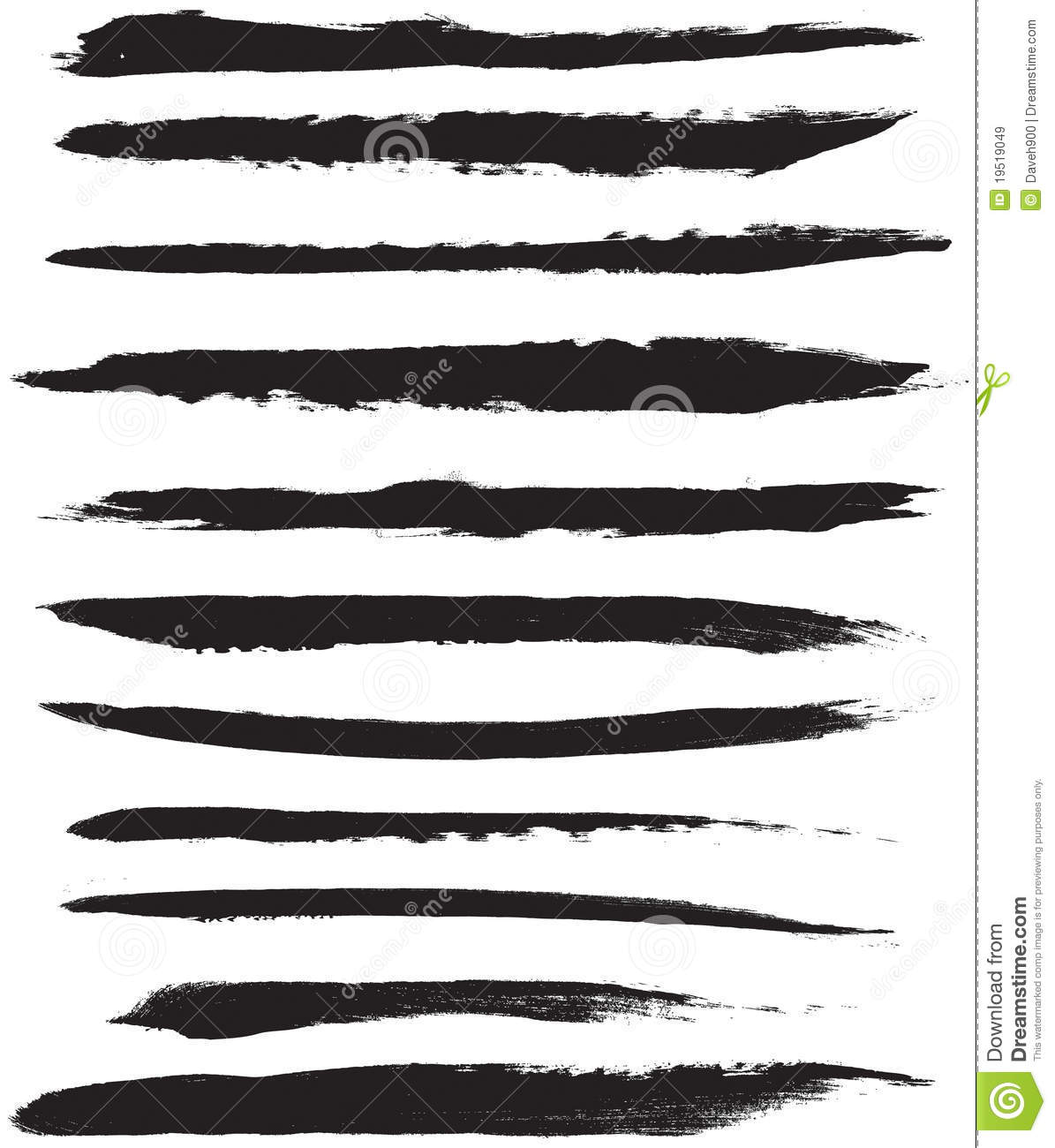Vector Brush Strokes Royalty Free Stock Images - Image: 19519049
