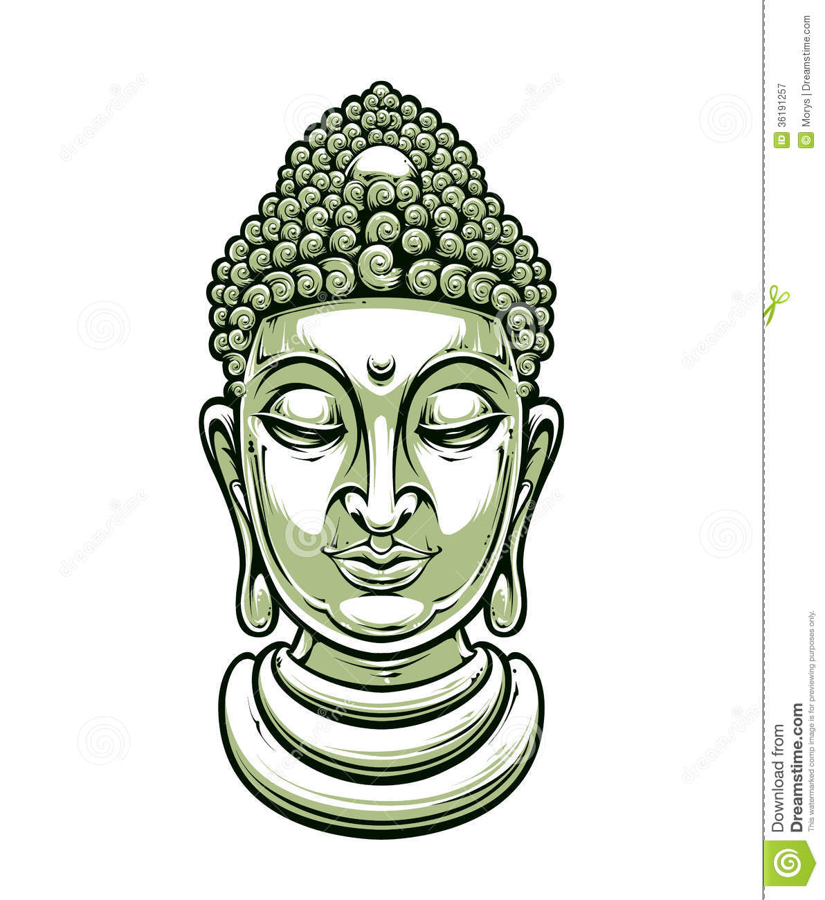 buddha illustration vector buddha head royalty free stock photography image 4957