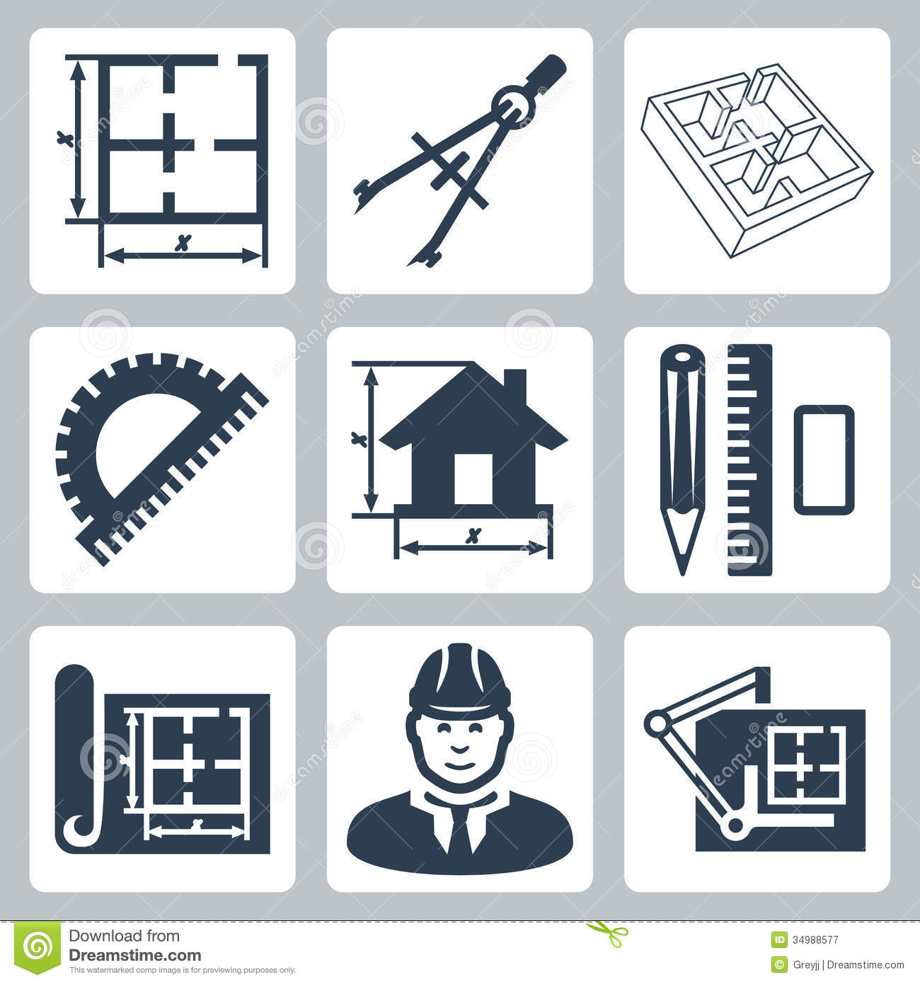 vector building design icons set stock vector image