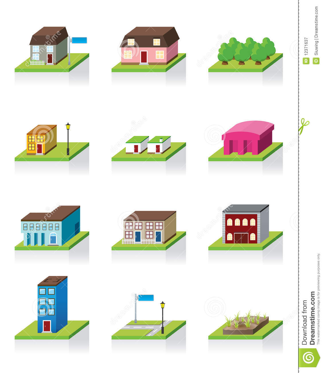 Vector building icon 3d illustration stock vector for Build house online 3d free