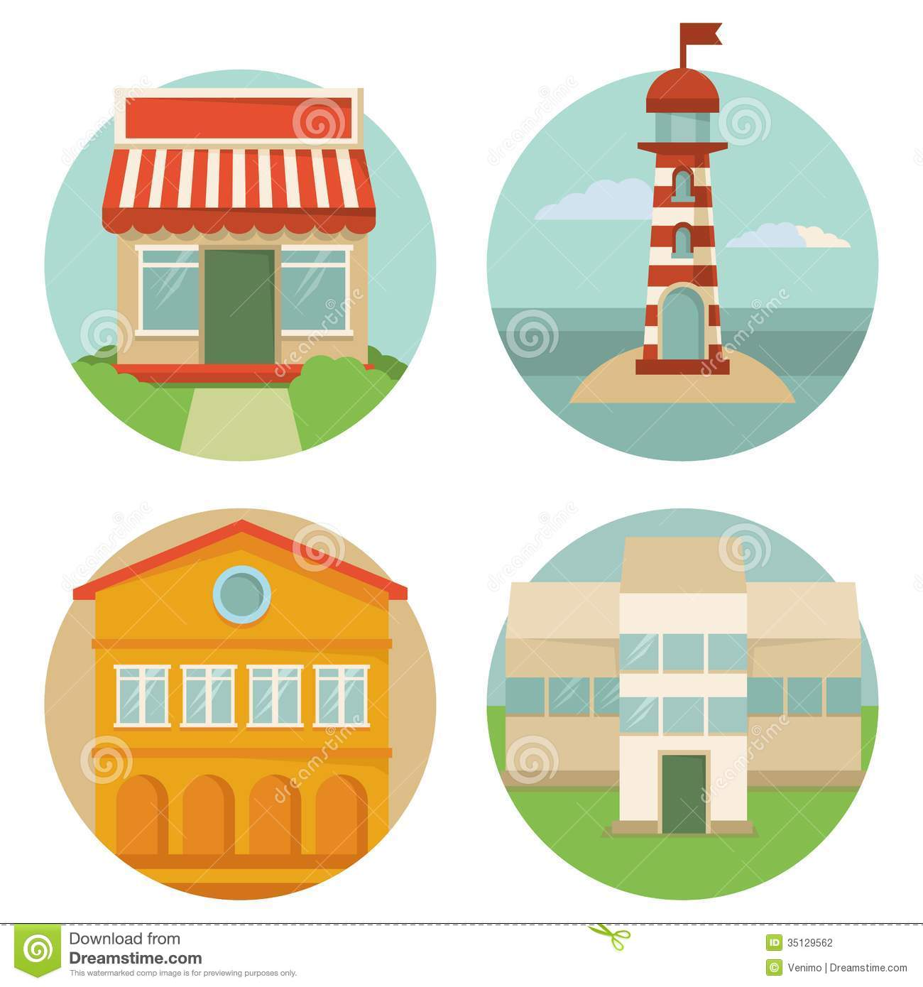 Vector Building Icons Stock Photography Image 35129562