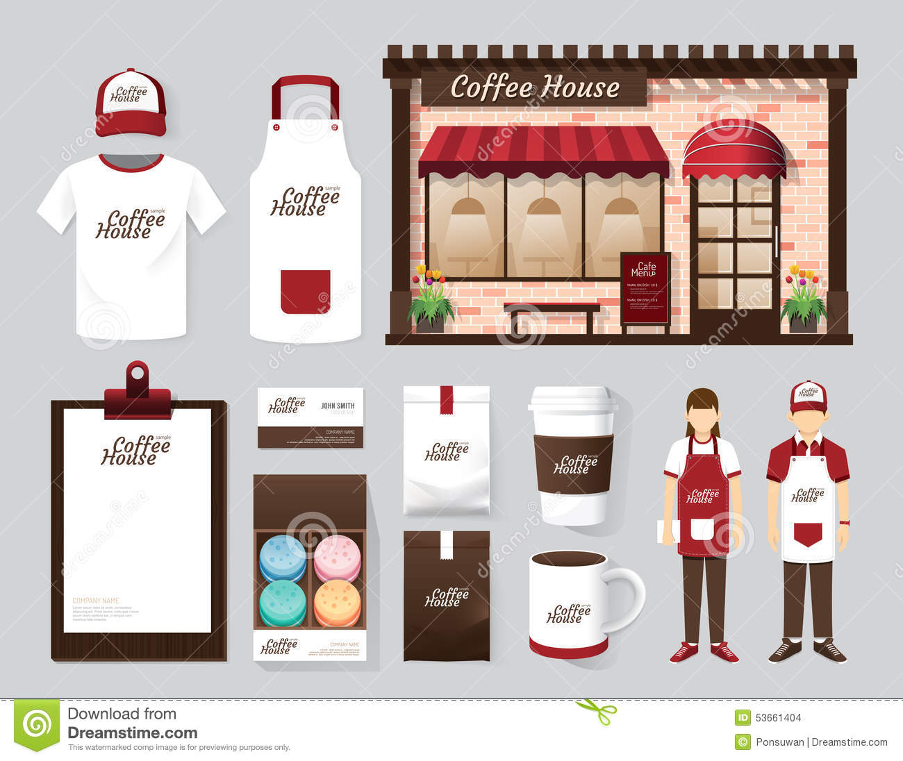 Vector Buildings Restaurant And Cafe Shop Front Design