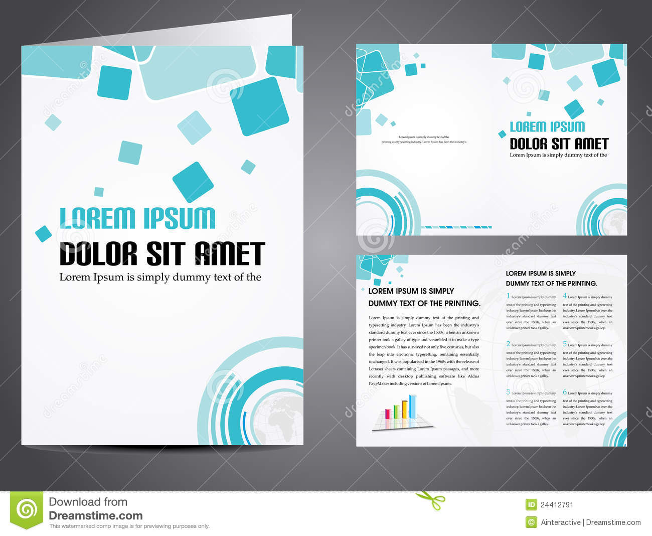 vector business brochure stock vector illustration of editable