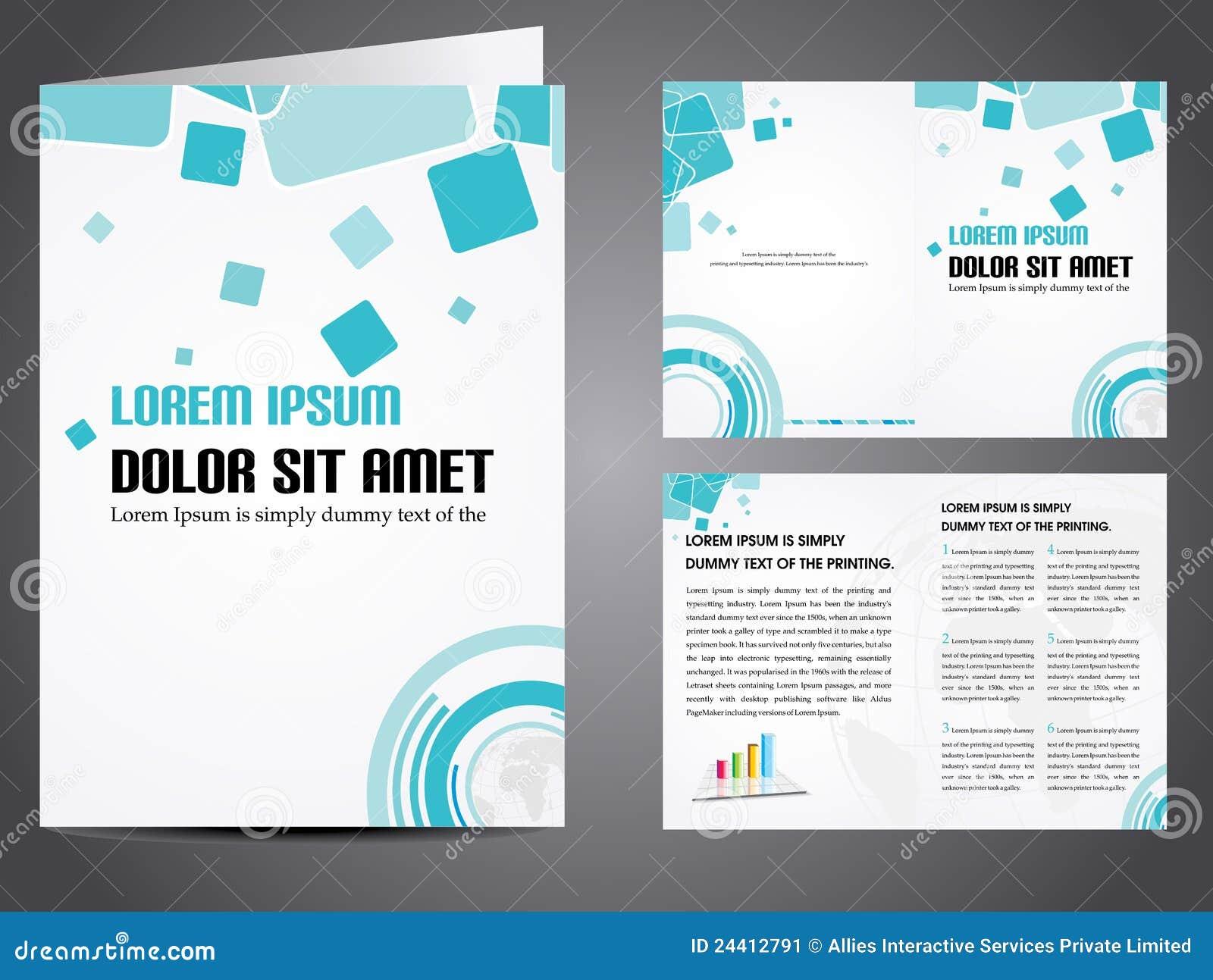vector business brochure stock vector illustration of editable